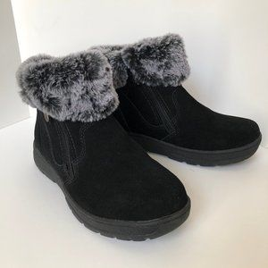 Khombu Leather Double Zippered All Weather Booties